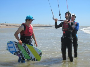 kitesurf lesson at Camber Sands
