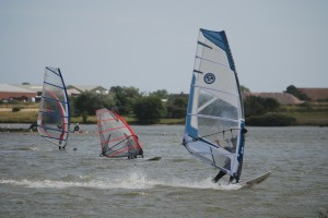 windsurfing at Rye Watersports in East Sussex