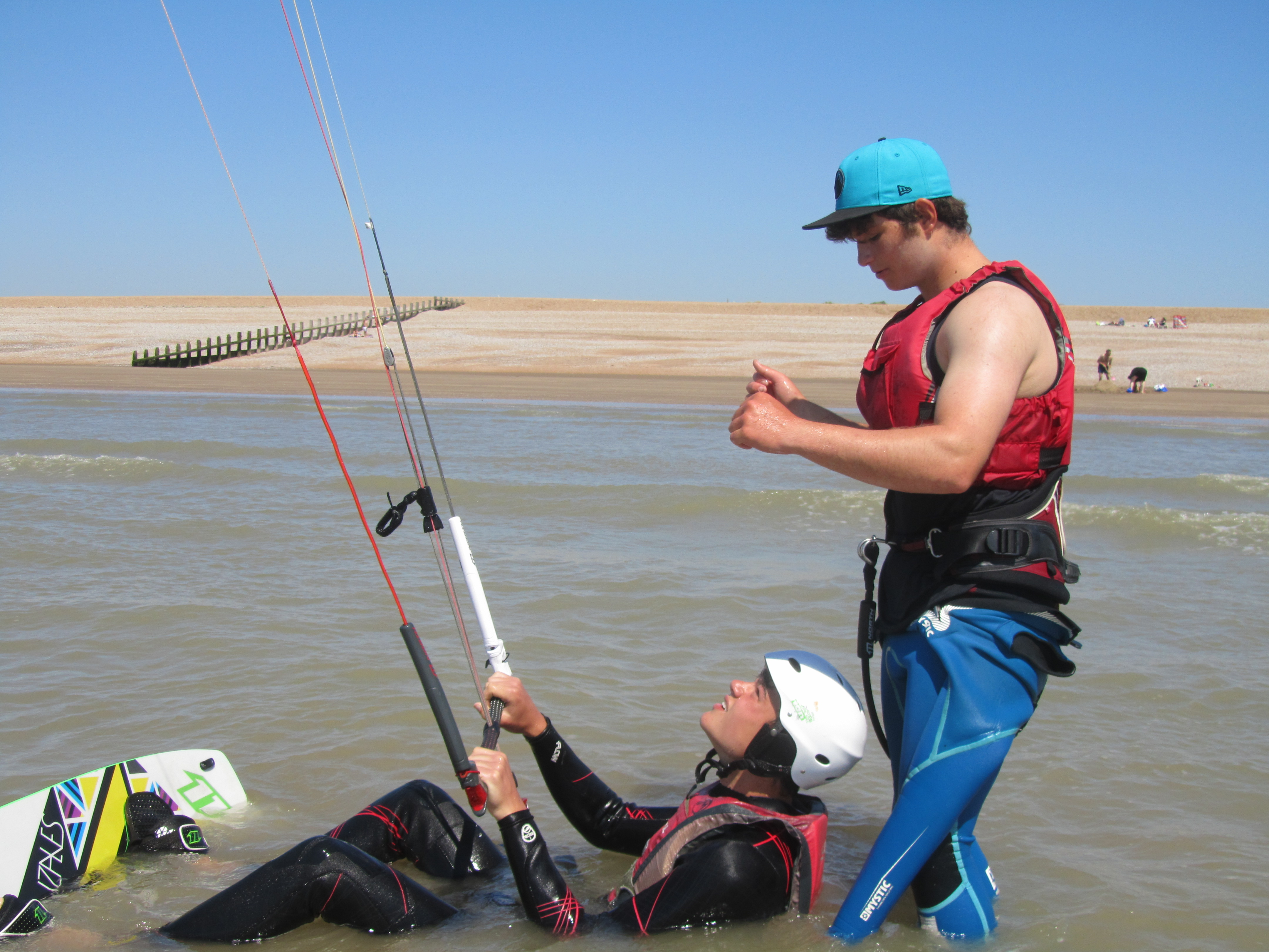 kitesurfing lessons camber sands