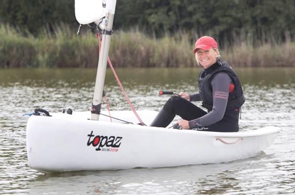 dinghy sailor in topper topaz