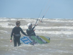 learning to kitesurf at Camber Sands