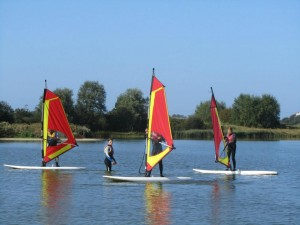 Craig Teaching a windsurfing lesson at rye watersports