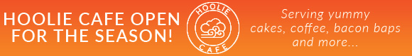 Hoolie Cafe, now open for the season, serving yummy cakes, coffee, bacon baps and more