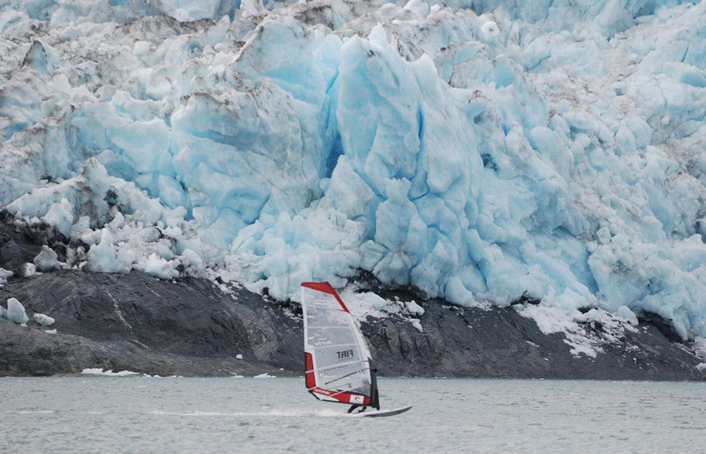 iceberg windsurfer