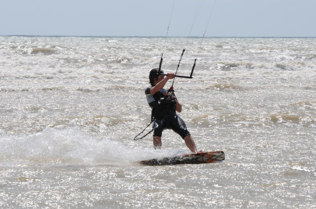 childrens kitesurfing lesson