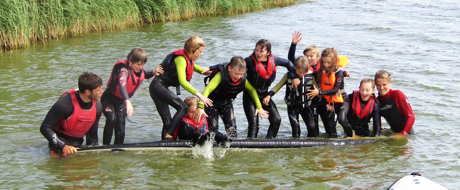 kids watersports summer camp fun