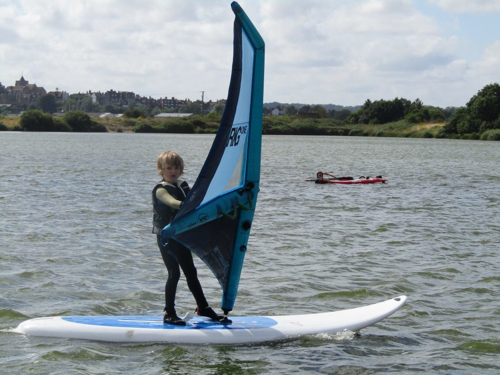 leo windsurfing with irig