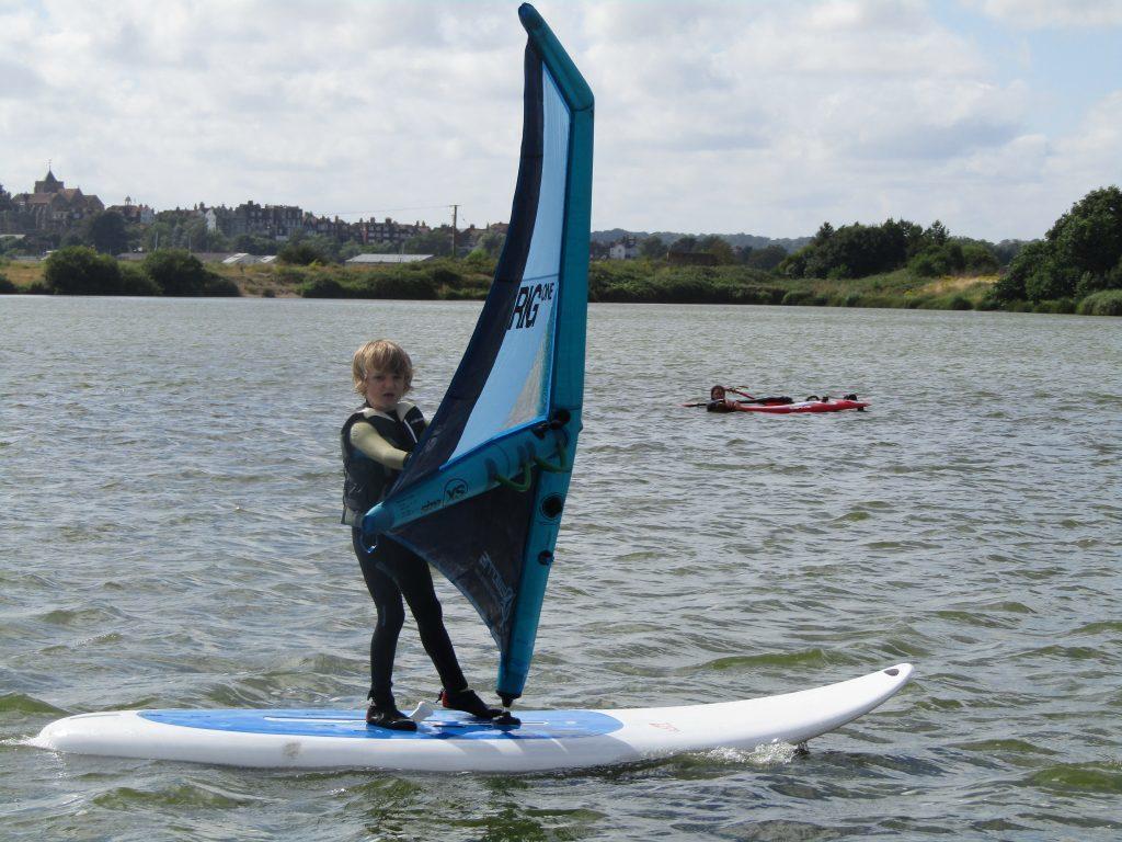 leo windsurfing with irig