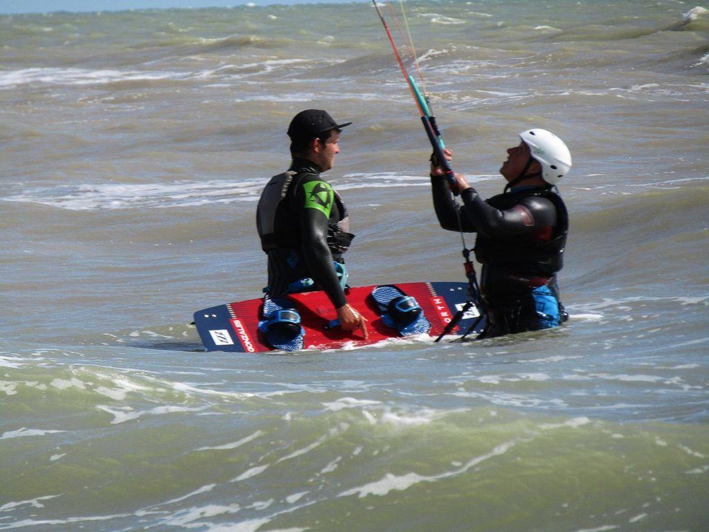 coaching kitesurfing camber sands